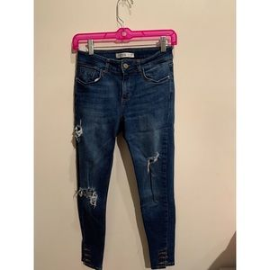 Zara | ripped skinny jeans